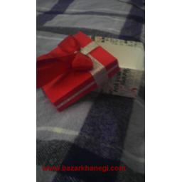 جعبه کادویی طرح نقره ای قرمز