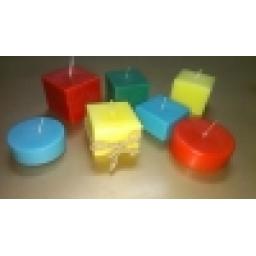 شمع مکعب - استوانه