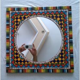 آیینه موزایک طرح نقش سنتی هندسی 2