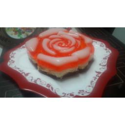چیز کیک همراه با ژله