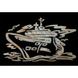 معرق کاری طرح کشتی