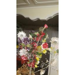 گل کریستالی با رنگ بندی