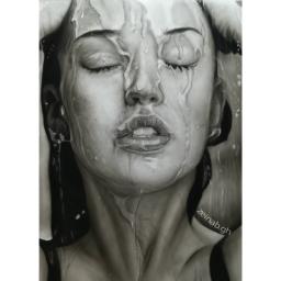 نقاشی کار سیاه قلم