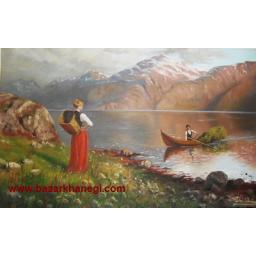 نقاشی رنگ روغن با قاب