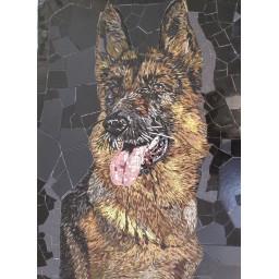 تابلو سگ ژرمن(دینگو)