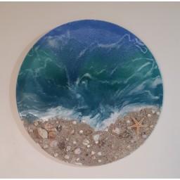 آبستره دریای رزینی قطر 70 سانتیمتر