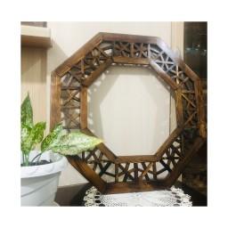 قاب آینه گره چینی 8 ضلعی