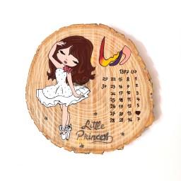 تابلو چوبی تاریخ تقویمی تولد طرح دخترانه 1