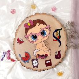 تابلو چوبی مشخصات نوزاد