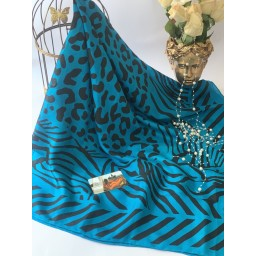 روسری ابریشم چاپ دست