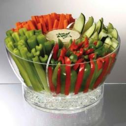 سینی سبزیجات بخارپز و خام
