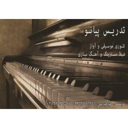 تنظیم و آهنگسازی،میکس و مسترینگ ،تدریس پیانو،و...