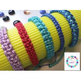 دستبند قیطونی رنگی براق