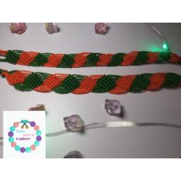 دستبند بافت پیچ دو رنگ