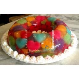 ژله خرده شیشه ترکیبی طعمهای مختلف میوه