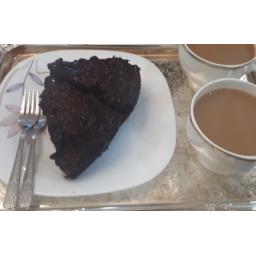 کیک براونی (کیک خیس) به صورت کیلویی یا کاپ کیک