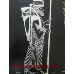 تابلو خراش روی فلز ایران باستان