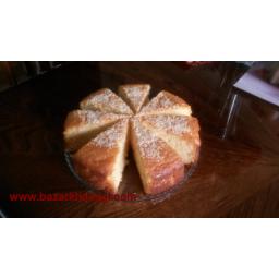 کیک زعفرانی کنجدی
