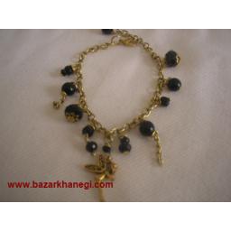 دستبند برنجی با مهره کریستالRoja-401
