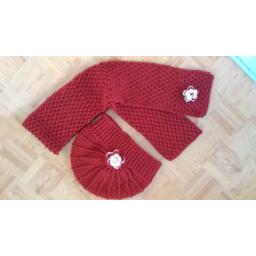 کلاه بادبزنی و شال