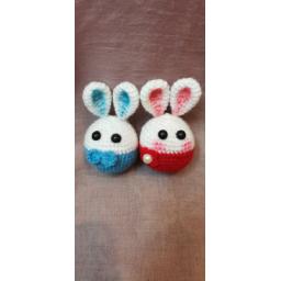 عروسک خرگوش آقا و خانم بافتنی