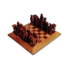 مهره و صفحه شطرنج از چوب گردو