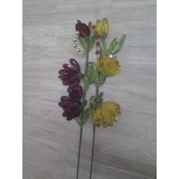 شاخه گل کریستالی