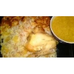 رشته پلو با مرغ