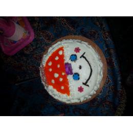 کیک شیفون با فیلینگ موز