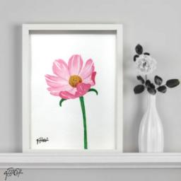 تابلو نقاشي  گل ماژيك و راپيد