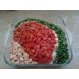 سالاد ماکارونی با تزیین هندوانه